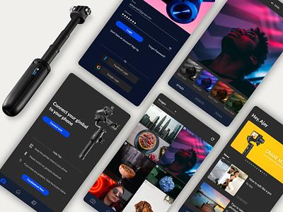 Gimbal app design ux ui design app visual design uxdesign uidesign gimbal
