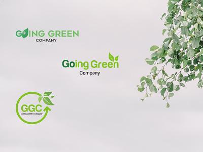 GGC logo designs organic leaf green design logo visual design