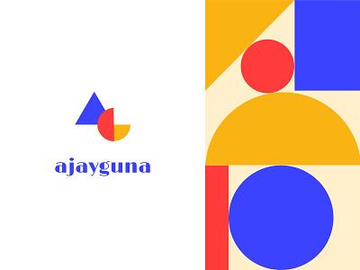 Personal logo design branding square circle triangle shape geometric design logo