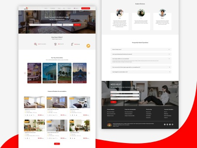 Education Malaysia website redesign website design accomodation red university education redesign webdesign ui ux