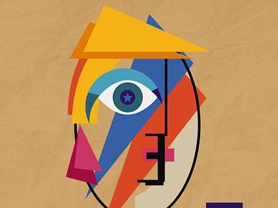Bauhaus Lady shapes art abstract lady bauhaus