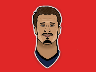 Portrait illustration football