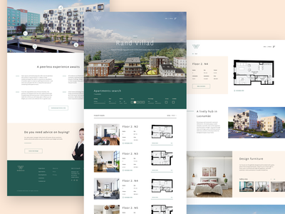 Wabadus Real Estate Pages identity websites brand design brand apartments web design houses real estate website design website web