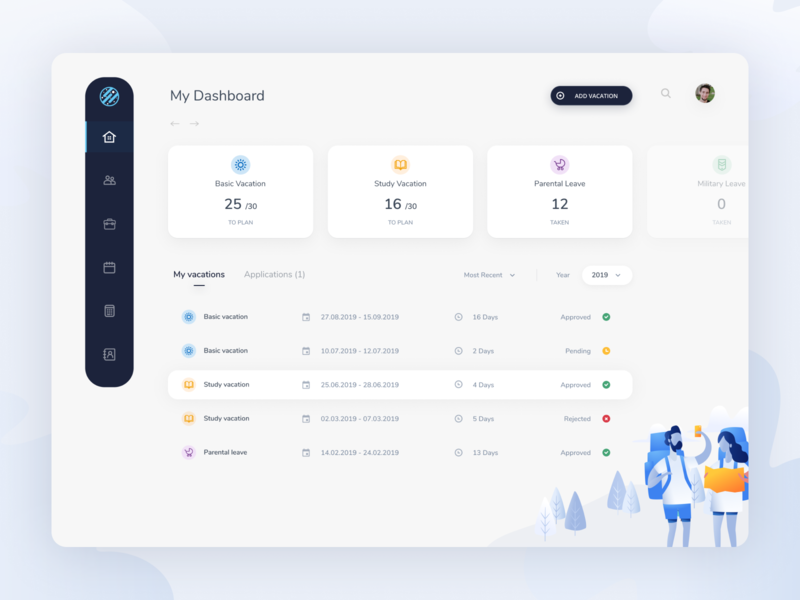 Vacation Time Management Dashboard