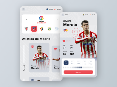 Football Manager Game stats manager profile player profile player league team basketball esports sports sport soccer football game mobile interface ux uiux app ui