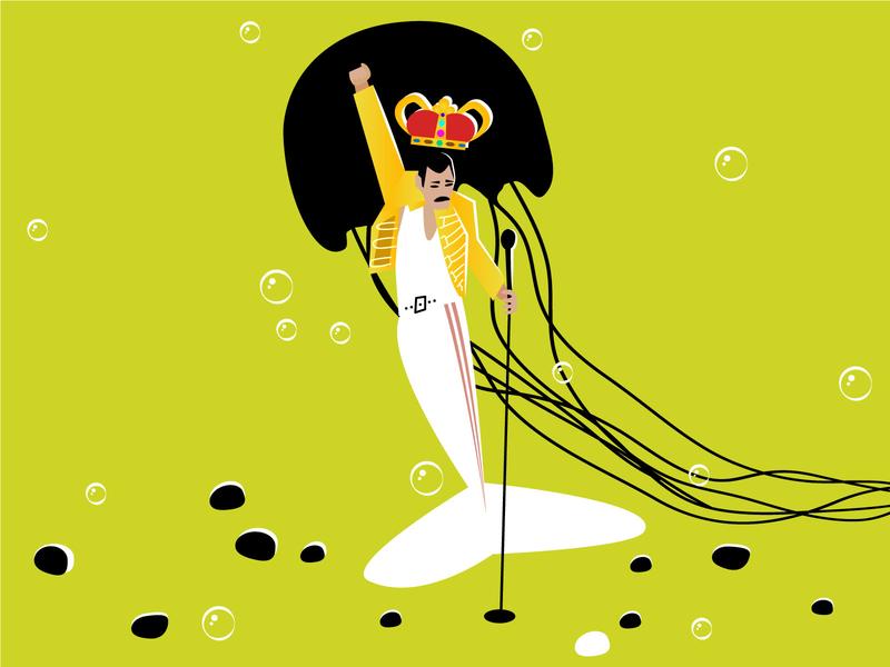 Q U E E N mermay2020 design character girl people mermay mermaid musician music queen freddie mercury