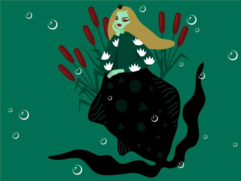 S W A M P swamp mermay2020 vector girl character design people mermay mermaid