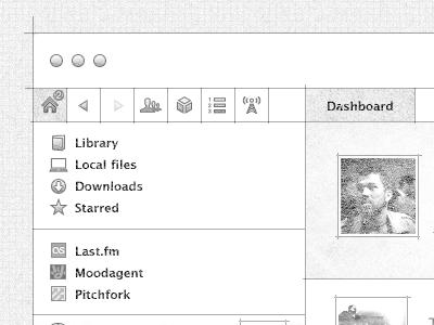 Spotify OS X  spotify os x desktop app wireframe