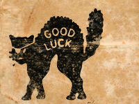 Good Luck Cat Logo