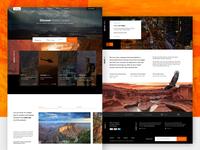 Gran Canyon Tours landing page.