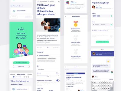 KnowS – Mobile ux design ui design interface platform design ux ui mobile