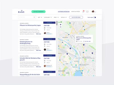 KnowS – Explore ux design ui design mobile design ux ui platform mobile interface design
