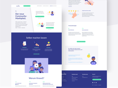 KnowS – Home platform ux interface landing page ui ux ui design