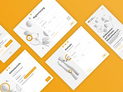 Athleten Deutschland – Forms ui design ux design berlin platform interface ui ux ui design