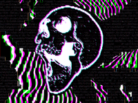 Abstract Glitch Skull