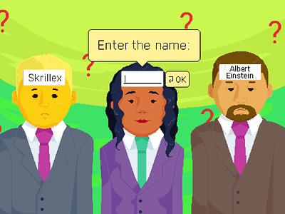 Who am I? illustrator illustration social game office pixel art pixels pixelartist pixelart