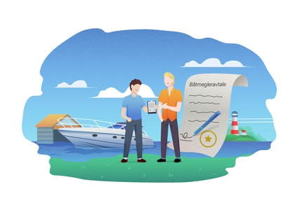 Boat trading 2 yacht trade landing page ai graphics vector business boat trading corporate illustrator illustration