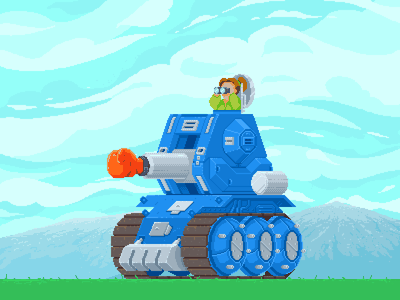 Punch Tank artwork illustrator illustration pixelartist tank fun gameart videogameart videogame retrogames indiegame indiedev pixels pixelart
