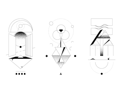 Symbols sticker print graphics design space architecture decorative illustration black  white abstract art lines lineart drawing sketch tattoo monochrome geometry minimal minimalism abstract