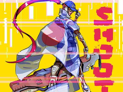 Gotta shoot'em all comics comic art characterdesign conceptart 2dart sci-fi artwork cyberpunk illustration