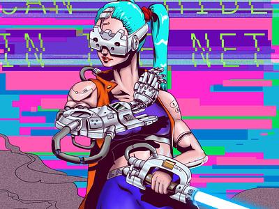 Cybergirl 3 comics concept artwork cyborg robot cybergirl acid comic art art cyberpunk illustration