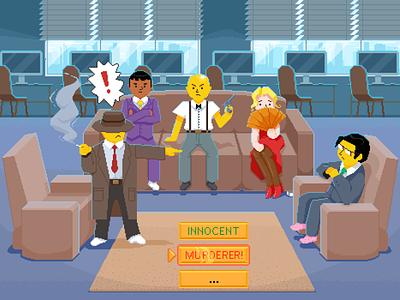 Mafia game ps artwork pixels illustration game social game mafia pixel art pixel pixelart