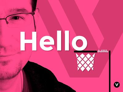 Hello Dribbble! web branding specialist design graphic