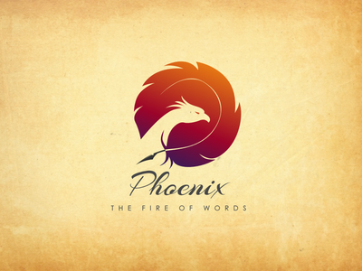 Phoenix  book publishers Logo fire bird publishers book bird logo phoenix
