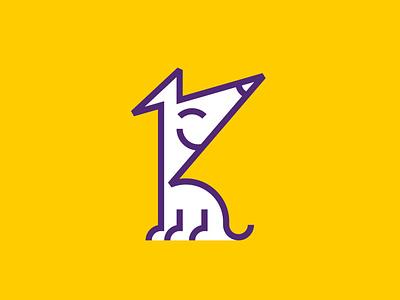 logo for Koniec Smyczy (rebranding) school doggy dog visual identity mark brandglow logodesign rebranding logotypedesign logotype logo