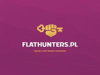 Flathunters.pl, brand identity keyvisual stationery brandglow branding design brand identity logo design branding brand design visual identity logotype logo realestateagent realestate logo real estate