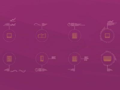 Flathunters.pl, icons design keyvisual real estate brandglow logodesign branding infographic icons design icons
