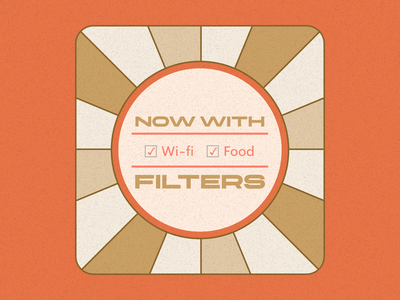 Now with Filters | Average Joe Coffeehouse Reviews branding retro vector illustration flat design