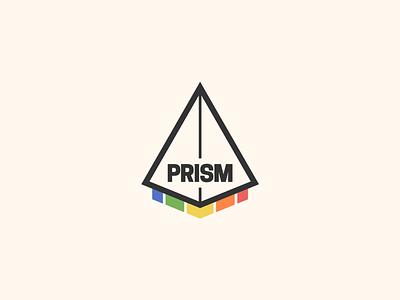 Prism illustration flat minimal logo branding design