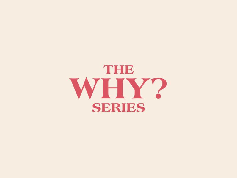 The Why? series branding typesetting minimal logo design