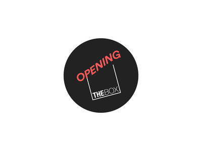 Opening The Box typesetting minimal branding logo design