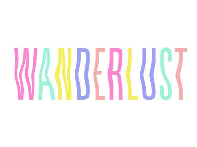 Wanderlust travel lettering custom design graphic design typography type