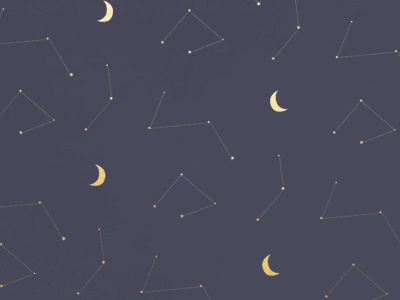 Constellations print custom art illustration graphic design textile design surface design pattern