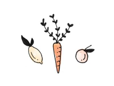 Better Off Vegan illustration custom branding logo design icons