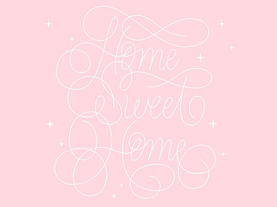 Home Sweet Home home pink vector typography type custom hand lettering lettering