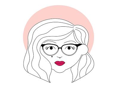 Avatar Icon millennial pink illustration custom graphic character design icon