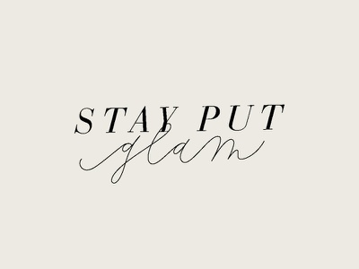 Stay Put Glam Logo identity makeup beauty custom graphic design lettering branding design