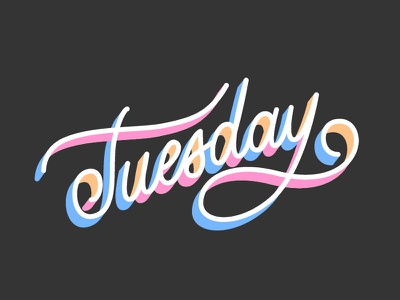 Happy Tuesday! illustration vector handlettering typography type lettering