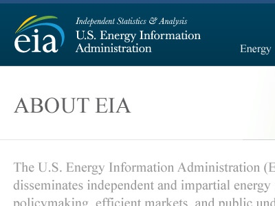 EIA About Page Template website