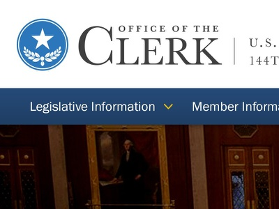 Office of the Clerk Homepage Design website government