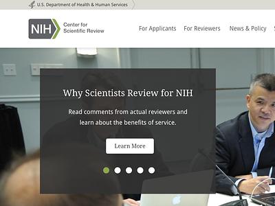 NIH CSR Responsive Web Design design web responsive