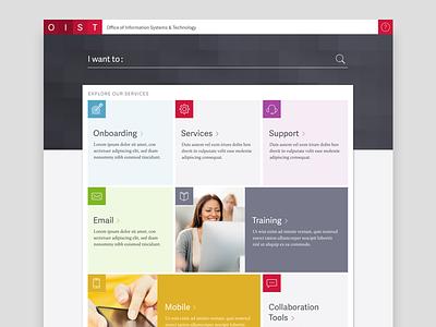 OIST Homepage Design Concept design visual
