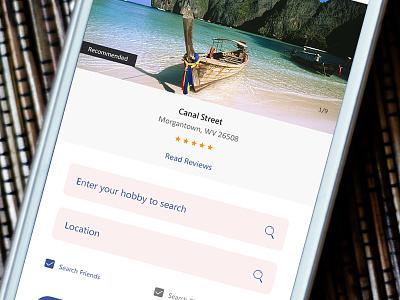 KiteSurf Best Location Finding App kitesurf app designer graphics designer mobile app ux ui