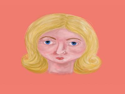 Krita Blond Monster krita blond woman graphic design illustration