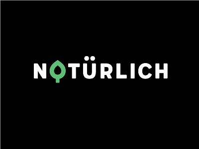 Natürlich logo leaf coffee shop graphic design logo naturlich