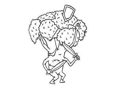 Fighting Broccoli game fighter broccoli graphic design illustration